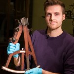 James Cooke, DPhil student in neuroscience, with an octant