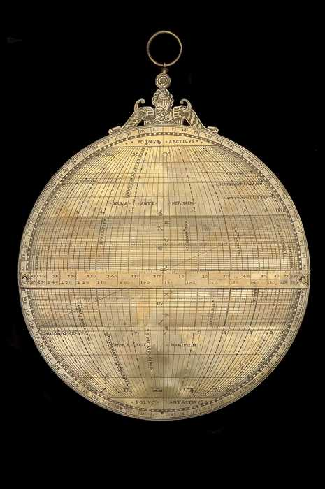 Closeup of Universal Astrolabe, by Anthoine Mestrel, Paris, 1551   (Inv. 32378)