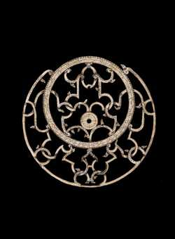 Small image of astrolabe rete separated from astrolabe. Click to enlarge.