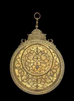 astrolabe, inventory number 35565 from Persia, 1675/6 (A.H. 1086)