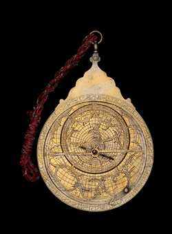 astrolabe, inventory number 38862 from Lahore, 1653/4 (A.H. 1064)