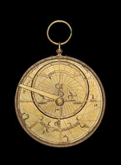astrolabe, inventory number 39540 from Paris, ca. 1400