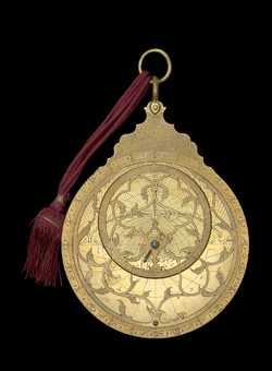 astrolabe, inventory number 40744 from Iṣfahān, 1712/13 (A.H.           1124)
