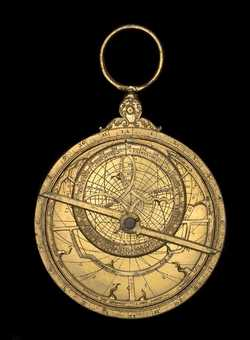 astrolabe, inventory number 43454 from London, ca. 1575