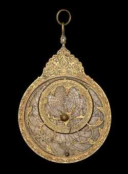 astrolabe, inventory number 43739 from Iṣfahān, early 18th century
