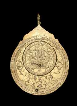 astrolabe, inventory number 45509 from Persia, 1682 (A.H. 1093)