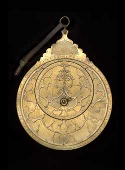 astrolabe, inventory number 45747 from Persia, 1647/8 (A.H. 1057)