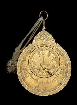 astrolabe, inventory number 46680 from Iṣfahān, 1708/9