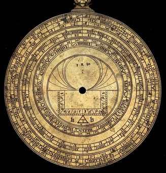 astrolabe, inventory number 46769 from Thüringen, 1490