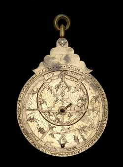 astrolabe, inventory number 47063 from Persia (?), late 16th or early 17th           century