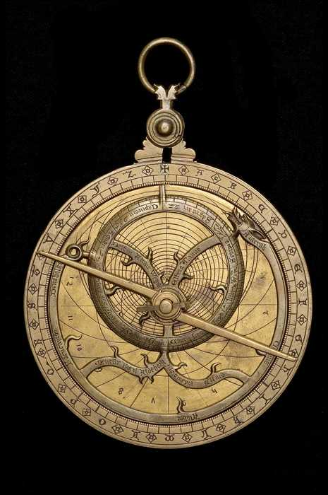 Closeup of Astrolabe, English, c.1370 (Inv. 47869)