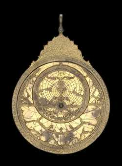 astrolabe, inventory number 50143 from Persia, ca. 1650