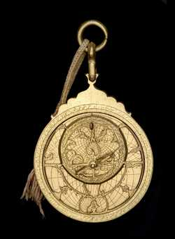 astrolabe, inventory number 50180 from Persia (?), 18th century