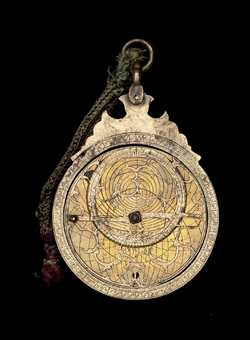 astrolabe, inventory number 52066 from India (?), 1647/8 (A.H. 1057)