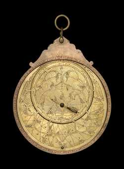 astrolabe, inventory number 52399 from Persia, 1587/8 (A.H. 996)