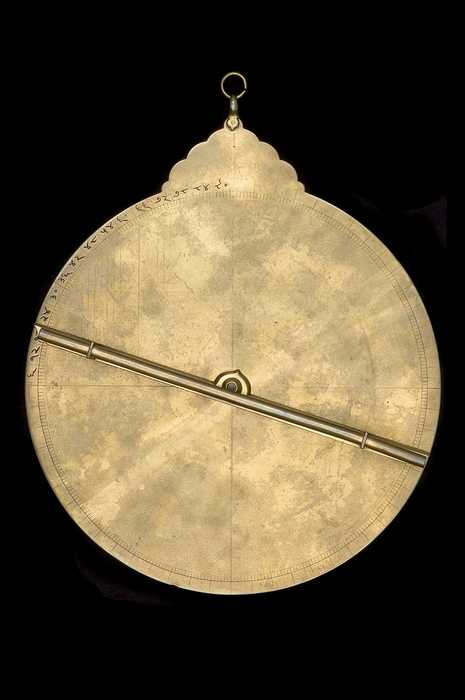 Closeup of Astrolabe, North Indian, 18th century? (Inv. 52478)