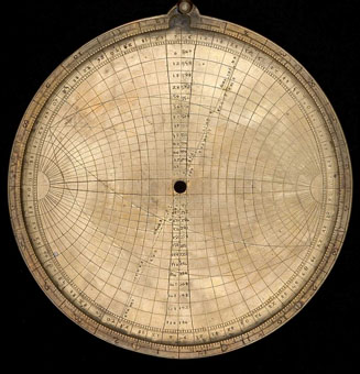 astrolabe, inventory number 52869 from Europe, ca. 1400
