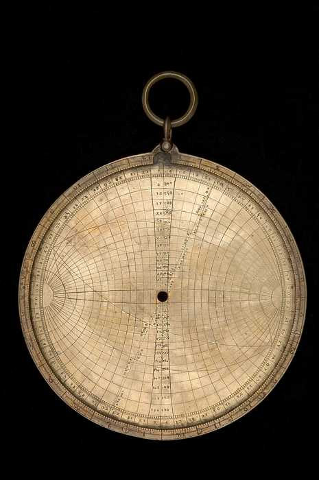 Closeup of Astrolabe with Universal Projection, c.1400    (Inv. 52869)