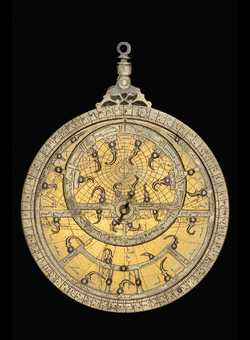 astrolabe, inventory number 53556 from North Africa, 14th century