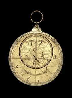 astrolabe, inventory number 54330 from Paris (?), late 14th or early 15th           century