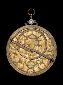 astrolabe, inventory number 54424 from Europe, early 17th century