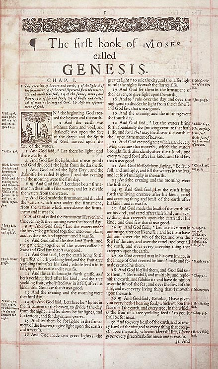 first page of the old testament the start of the first creation