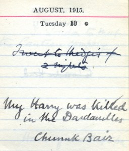Amabel's diary, 10 August 1915