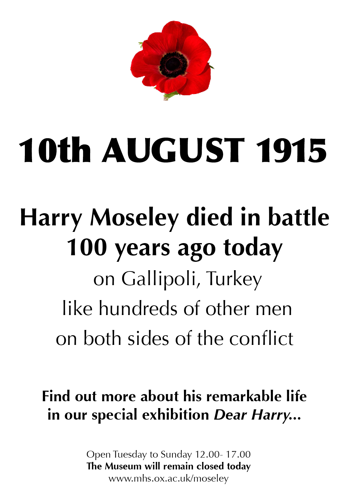 100 years later the life and death of henry harry moseley dear
