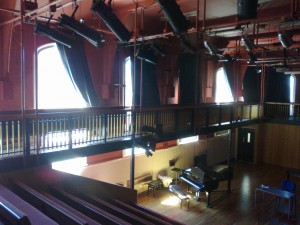 Summer Fields: the Interior of the Macmillan Hall and Music Centre, formerly the gymnasium during Harry's time at the school.