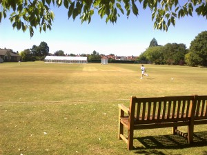 Summer Fields: A view of the cricket fields, as they are now and were during Harry's time at the school.