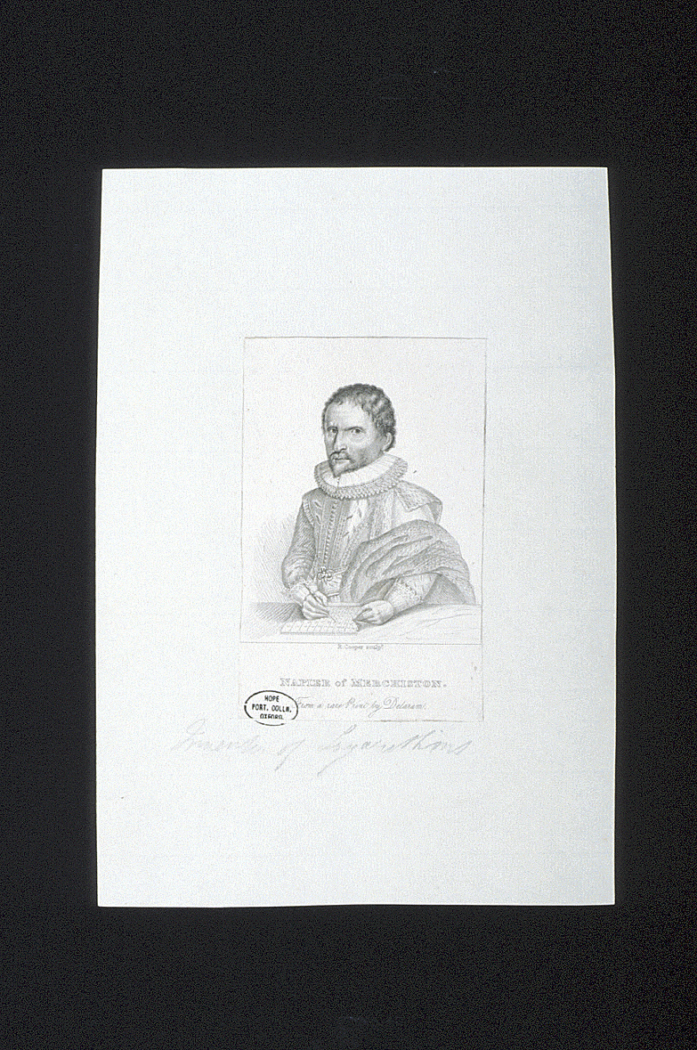 preview image for Print (Engraving) of John Napier, by R. Cooper, after Francis Delaram, Published by Charles Baldwyn, Early 19th Century.