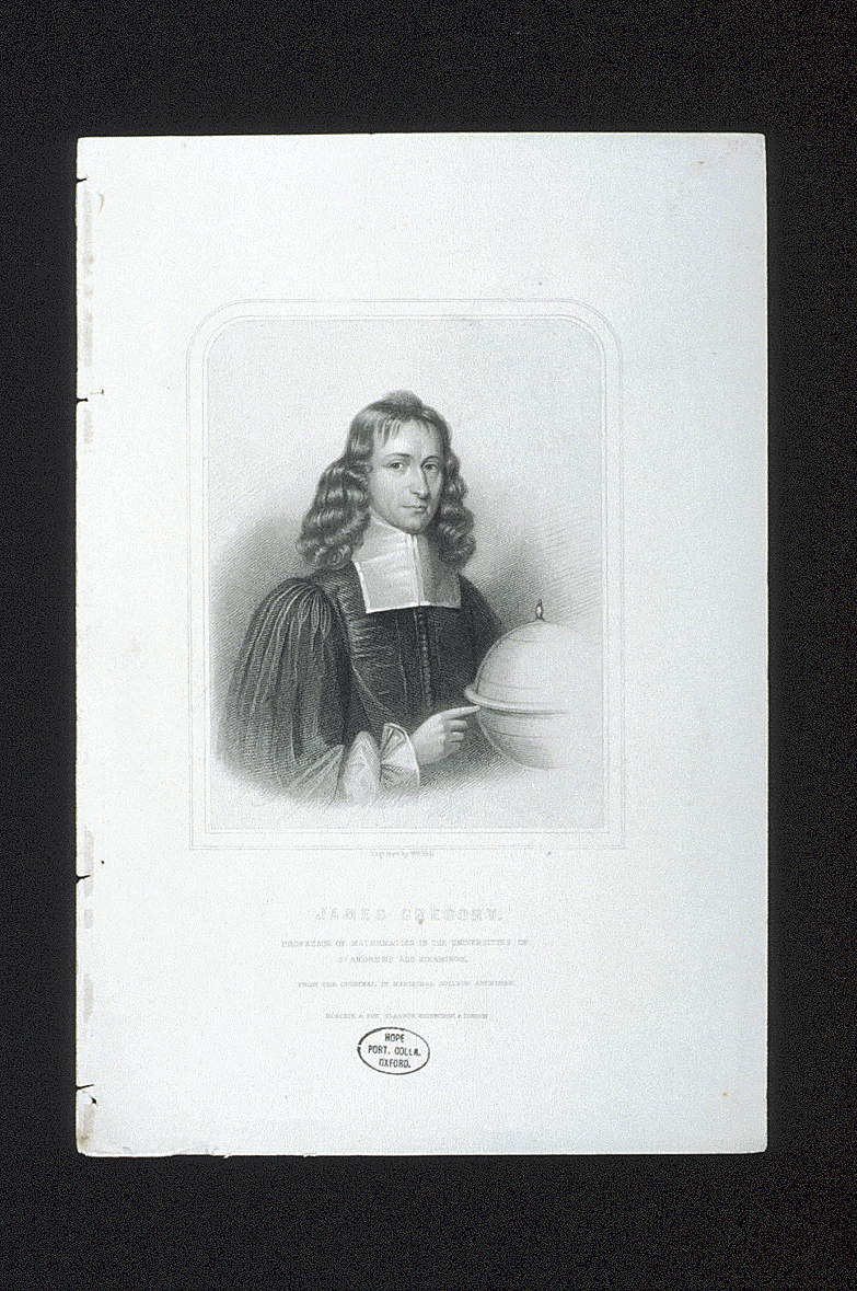 preview image for Print (Engraving) of James Gregory by William Holl after unknown artist, published by Blackie & Son.