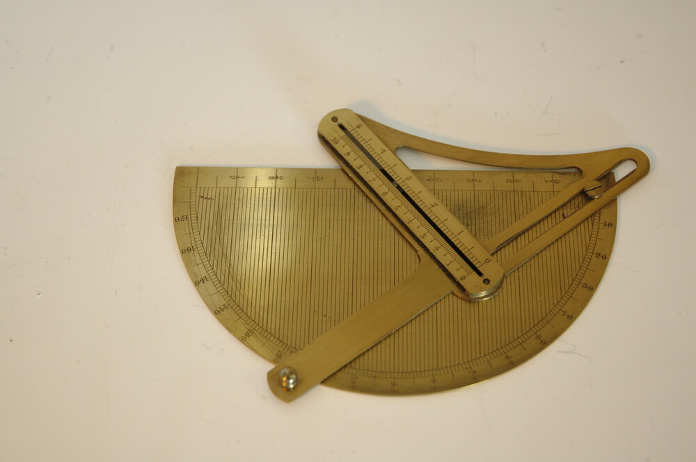 preview image for Protractor with Calculating Function in Case, by Elliott Brothers, London, 1850s