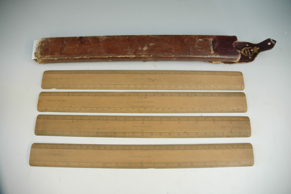 preview image for A Set of Architect's Wooden Scales with Case, by Elliott Brothers, London, 19th Century
