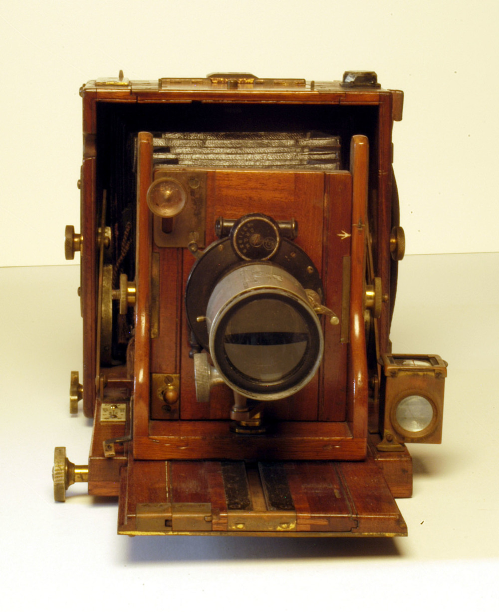 preview image for Archaeological Folding Quarter-Plate Camera and Kit owned by T. E. Lawrence, by J. H. Dallmeyer, London, 1910