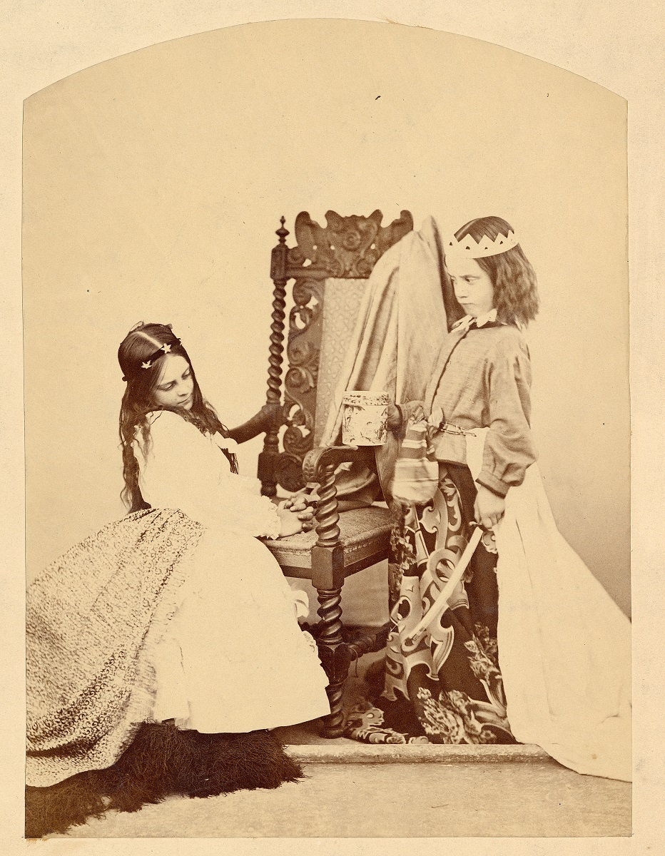 preview image for Photograph (Albumen Print) of Annie Rogers and Mary Jackson as Queen Eleanor and Fair Rosamund, by C. L. Dodgson (Lewis Carroll), July 3, 1863
