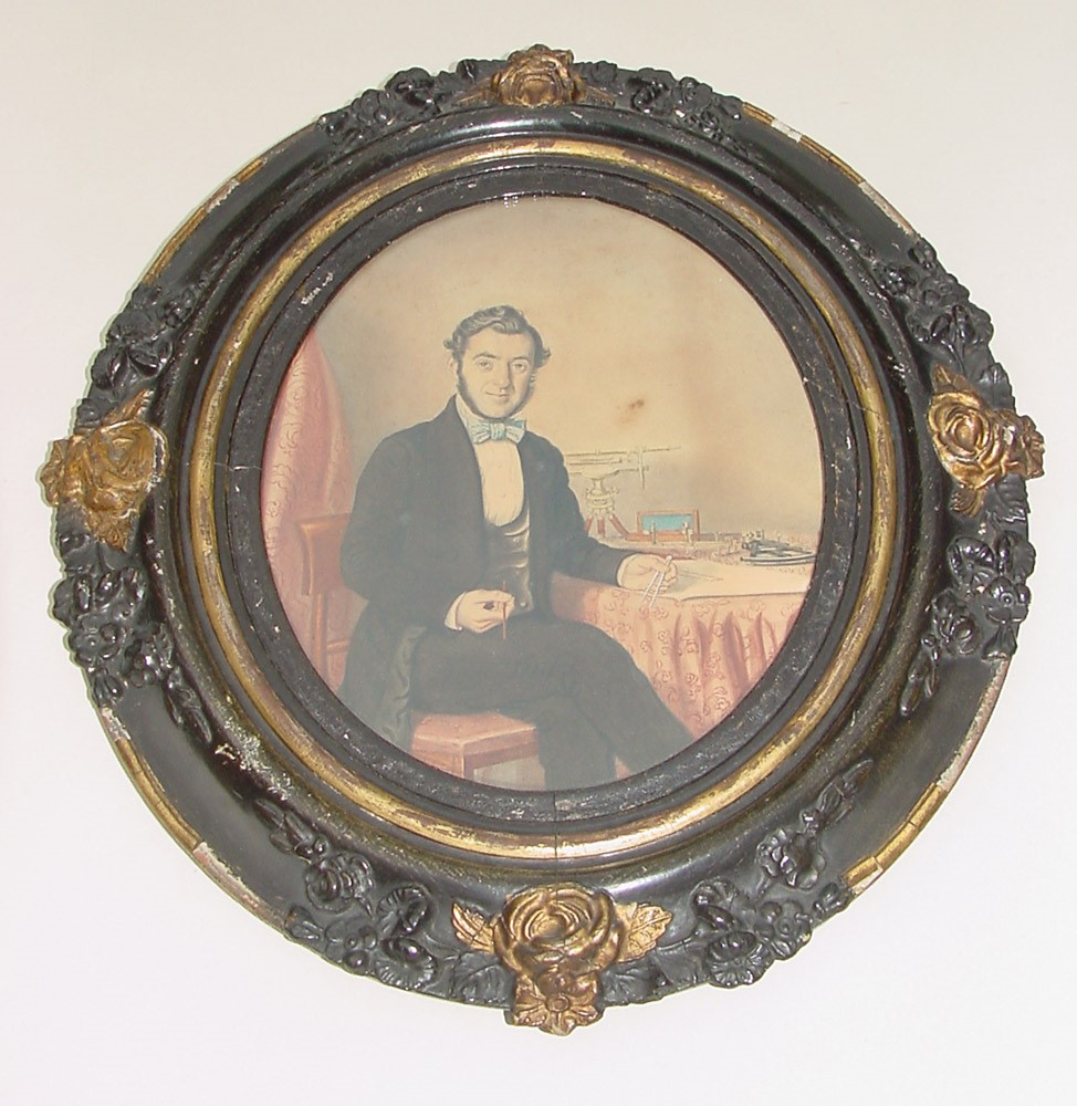 preview image for Watercolour Portrait of John Whalley, Surveyor, English, c. 1846