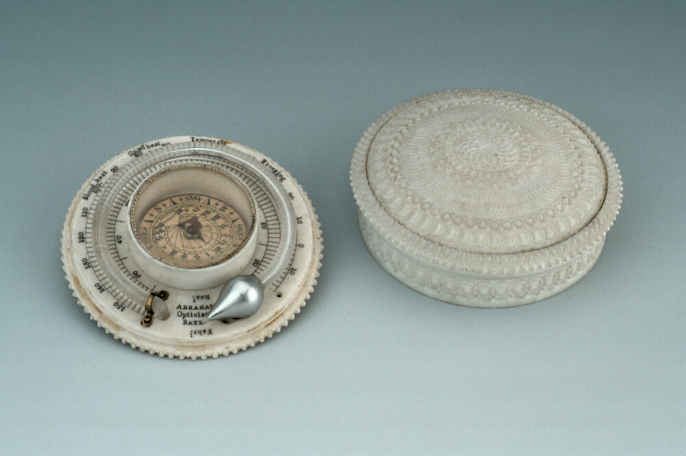 preview image for Horizontal Magnetic Dial and Thermometer, by Abraham and Essex & Co, London and Bath, 19th Century