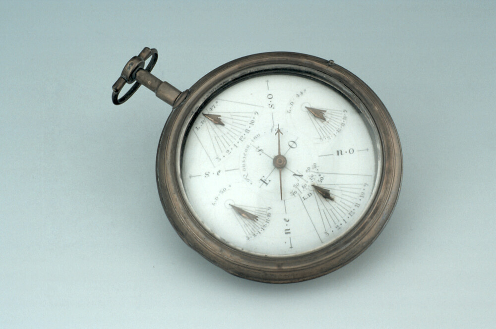 preview image for Pocket Watch-Type Horizontal Dial, by Rousseau, French, c. 1800