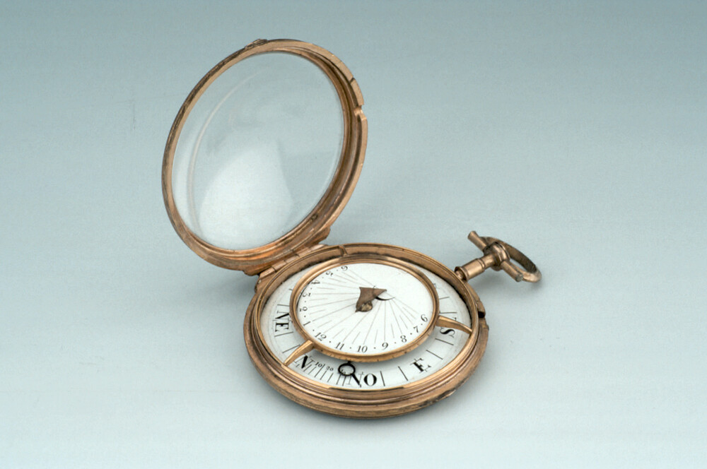 preview image for Pocket Watch-Type Horizontal Dial, French, Early 19th Century