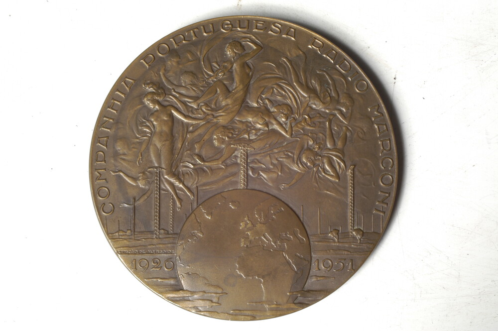 preview image for Medal Portugese Marconi Company, by Joao Da Silva, Portugal, 1951