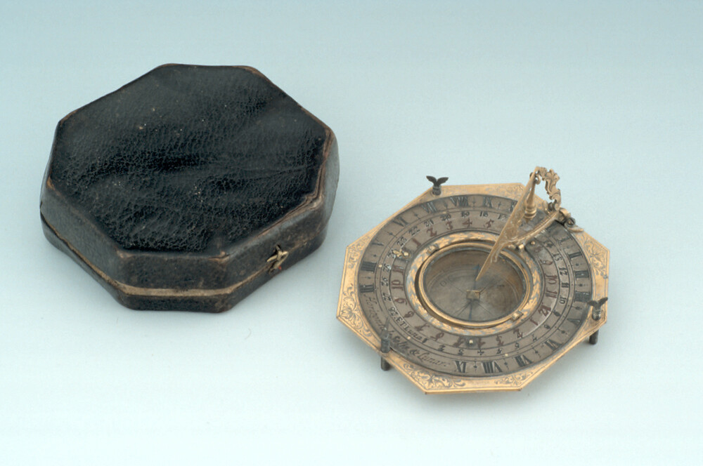 preview image for Inclining Dial with Moondial, by Johann Martin, Augsburg, c. 1700