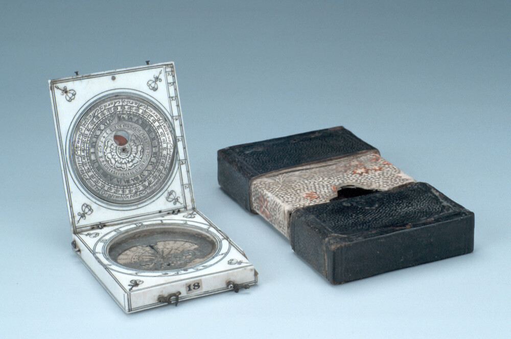 preview image for Bloud-Type Magnetic Azimuth Dial, Dieppe? France, Late 17th Century