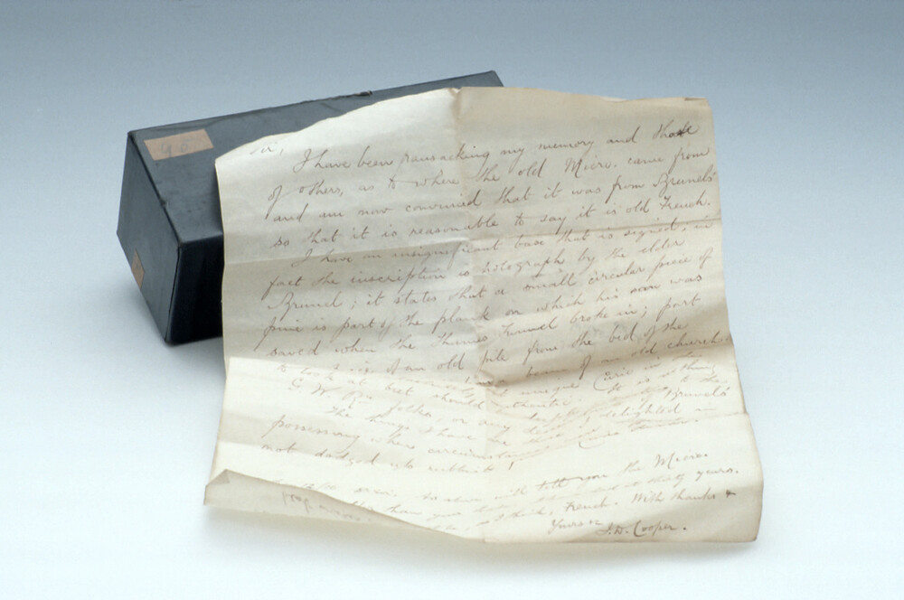 preview image for Box Containing a Manuscript Letter About a Wilson Screwbarrel Microscope, New York?, 20th Century