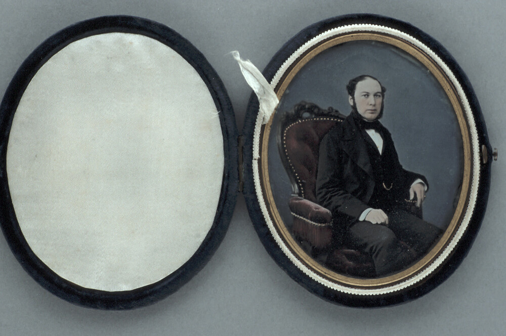 preview image for Photograph (Daguerreotype, Oval Format) of a Man, c.1850