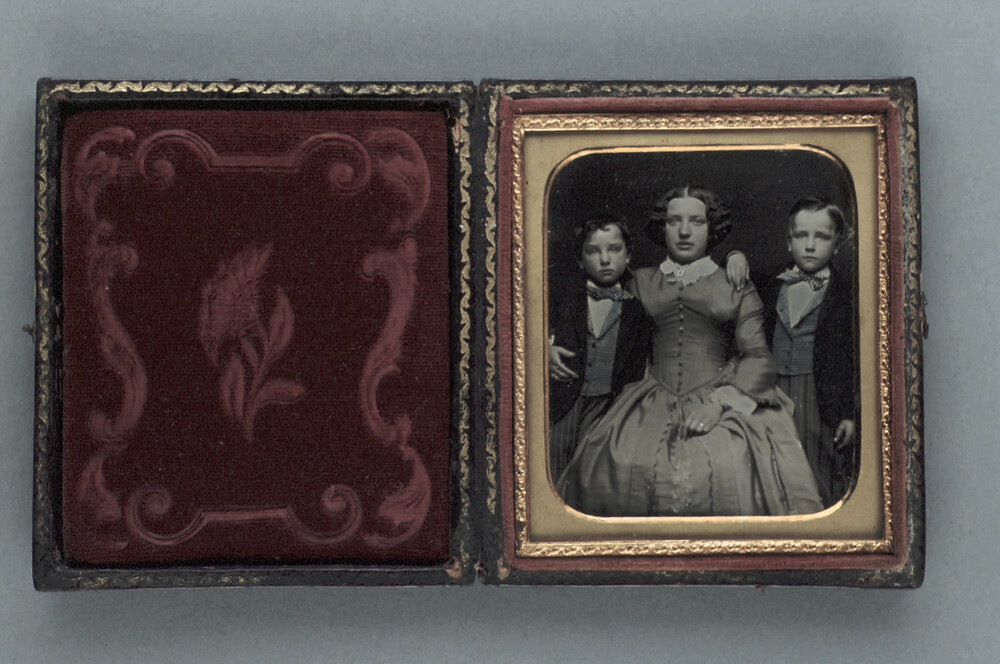 preview image for Photograph (Daguerreotype) of a Mother and Sons, February 1853