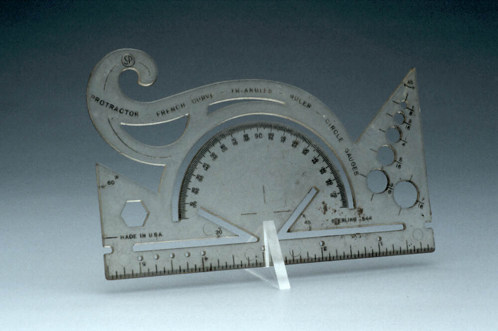 preview image for Protractor, Stencil and Ruler, by Sterling?, United States, 1940s