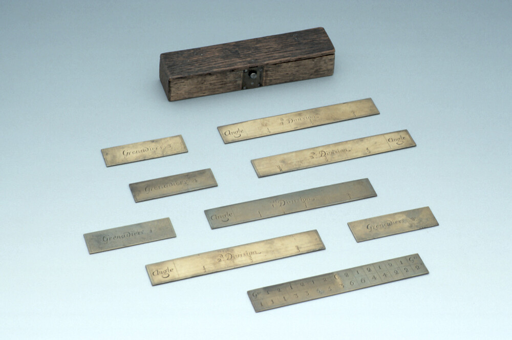 preview image for Set of Military Tokens for Demonstrating Battalion Firing, English, c. 1700