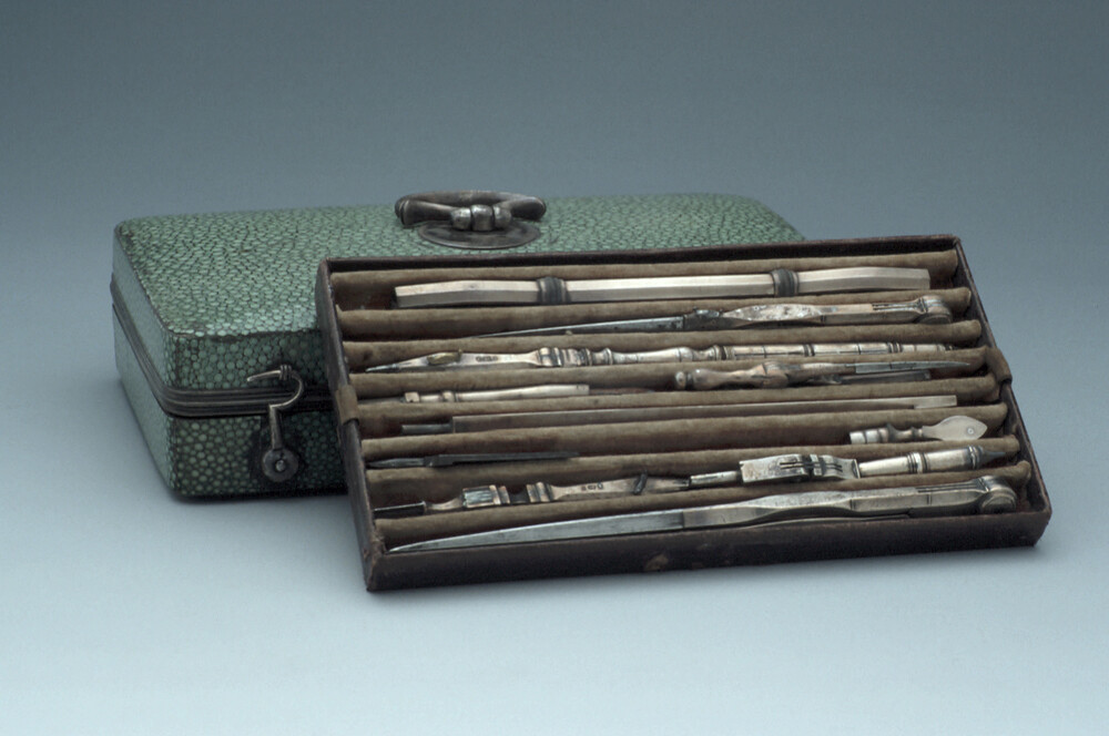 preview image for Set of Drawing Instruments, English, Late 18th Century