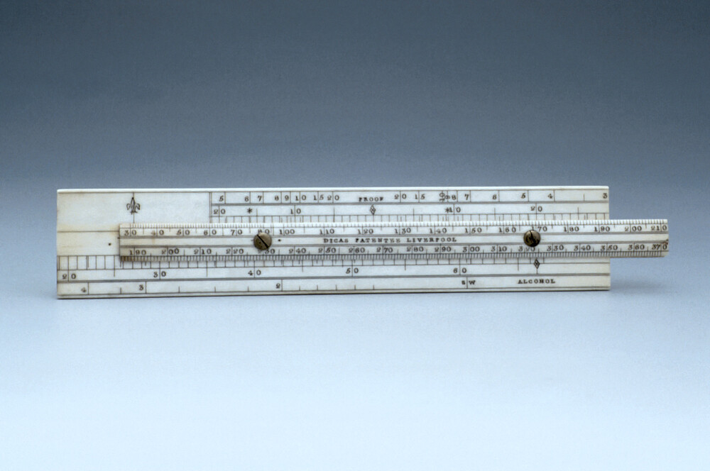 preview image for Alcohol Proof Slide Rule, by Dicas, Liverpool, 19th Century